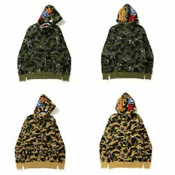 A Bathing Ape Mens Shark 1st Camo Shark Relaxed Fit Full Zip Hoodie 2 Colors F/s