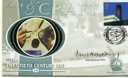 Art And Craft First Day Cover 2000 Certified Signed Paul Atterbury
