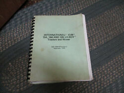 International Cub 154, 184 And 185 Lo-boy Tractors And Mower Gss-1408w Manual