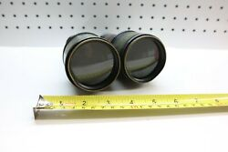 Nice Wwi Military Antique Vintage War Binoculars Leather Covered Case Working Ii