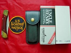 Uncle Henry Schrade U.s. Border Patrol Knife With Case And Box