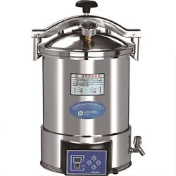 24l Portable Digital Display Autoclave Steam Sterilizer Stainless Steel Yx-24hdd