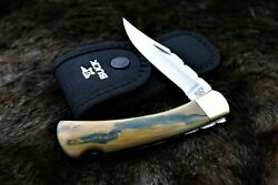 Buck 110 Leroy Remer Exotic Blue/green Lockback With Filework Knife Knives
