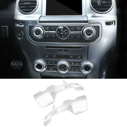 For Land Rover Discovery 4 2010-2016 Silver Central Console Air Outlet Vent Trim