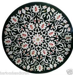 Size 42x42 Marble Dining Side Table Top Mosaic Inlay Floral Ornate Decor H904b