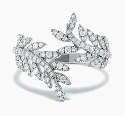 1.35ct Natural Round Diamond 14k Solid White Gold Wedding Cocktail Ring