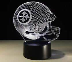Pittsburgh Steelers Led Changeable Light Lamp Collectible Gift Decor