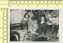 104 Christmas Tree Girls Kids Children with Toy Doll vintage photo old original