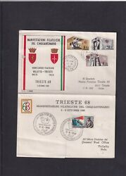 Malta 1968 Christmas First Day Cover Fdc Also Italy Trieste Stamp Exhibition Pmk