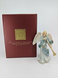 Lenox Angel With Trumpet Little Town Of Bethlehem W/ Box Excellent Condition