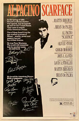 Scarface Cast Autographed 27x40 Movie Poster Signed By 11 Pacino Bas Beckett Coa