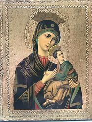 Russian Religious Orthodox Icon - Mother And Child - Handpainted Wood Icon