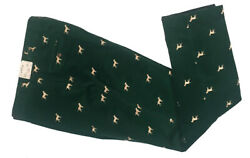 New Orvis Bozeman Holiday Pants Cords 36 X 31 Green With Gold Labs Dogs