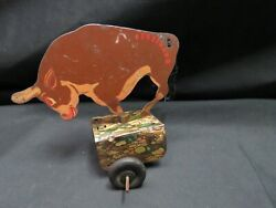Vintage 1938 Walt Disney Ferdinand The Bull Tin Litho Toy, As Is, For Parts