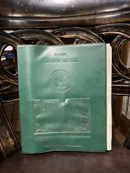 Us Army Equipment Log Book . Very Rare. Great Condition. Year Not Specified.