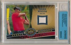 2009 Ud 20th Anniversary Tiger Woods Tw Blank Back Missing Relic, Bgs Authentic
