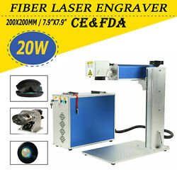 20w Fiber Laser Marking Machine 150x150mm Engraving Machine And Rotary Axis