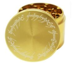 """Laser Engraved Spice And Herb Grinder – 2.2"""" Inch 4 Piece Premium Aluminum Crusher"""