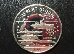 1991 New Queensland Mint Us Coast Guard Support 25 Silver Coin P2418