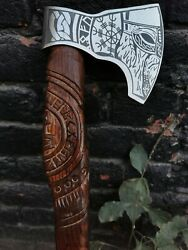 Custom Hand Forged Tomahawk Bearded,camping,battle,medieval,survival,viking Axe