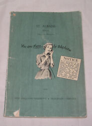 1959 St. Albans District Telephone Directory New England Telephone And Telegraph