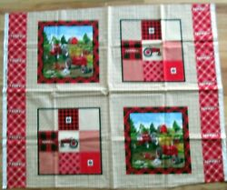 1 Great 2017 Farmall Quilting Sewing Crafting Home Decor Fabric Panel
