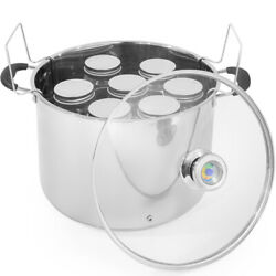 Water Bath Canner 20-quart Capacity Indicator With 7pcs Canning Jars + Rack