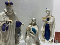 Lenox First Blessing Nativity The Three Kings Figurines