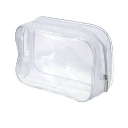 Clear Cosmetic Bag PVC Zippered Makeup Pouch Travel Waterproof Business Portable $4.39
