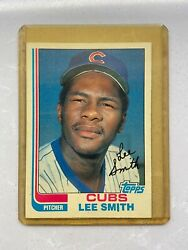 1982 Topps Lee Smith Chicago Cubs Set Pack 452 Baseball Card Mint Condition