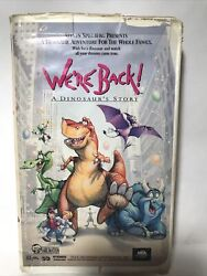 We're Back A Dinosaur Story Vhs 1993 Animation Adventure Comedy Free Shipping