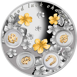 Scarce 2015 Niue 5 Good Luck Charms 77.75g Proof Silver Coin - Mintage 500