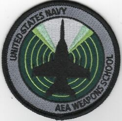 Navy F-18 Hornet Aea Weapons School Bullet Military Round Embroidered Patch