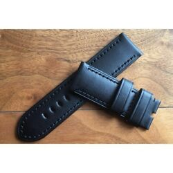 Authentic Pam00127 Watch Calf Leather Strap Black 26mm J702556440