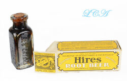 Tiny Antique Chas E Hires Root Beer Sample Bottle Sealed, In Box, W/ Contents