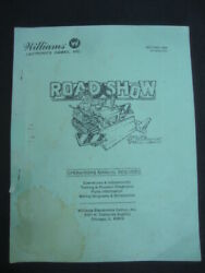 Roadshow Pinball Wpc Schematic Operation Manual Williams Electronics Game Parts