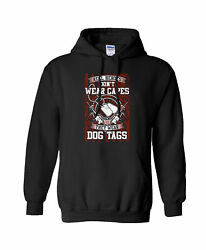 Us Military Real Heroes Don't Wear Capes They Wear Dog Tags Hooded Sweatshirt