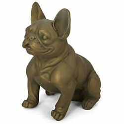 Christopher Knight Home Susan Outdoor French Bulldog Garden Statue Rustic Gold