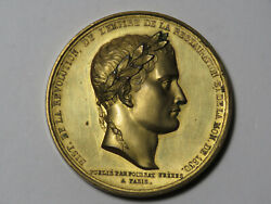 Return Of Napoleon's Coffin To Paris French Medallion 1830 - Gold-plated Copper