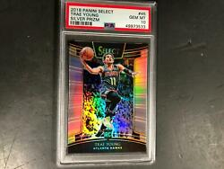 Trae Young 2018 Panini Select Silver Prizms Rookie 45 Psa 10 Gem Mint Hawks