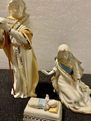 Lenox First Blessing Nativity The Holy Family 3 Pc Set Figurines New In Box
