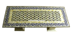 Marble Top Dinette Table With Stand Beautiful Abalone Stone Inlaid Decor H3412