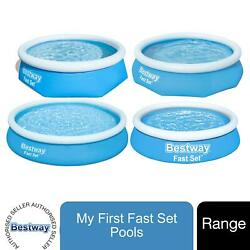 Bestway Range Of Inflatable Blue Swimming Pool Above Ground In Various Sizes