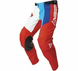 Answer Racing 0407-0567-5736 Menand039s A21 Elite Pace Pant 36 White/red/hyper Blue