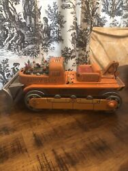 Vintage 1960's Battery Operated Tin Toy Handy Hank Bulldozer Japan Not Working