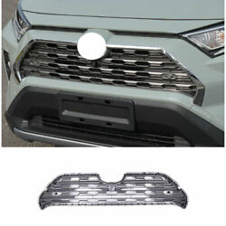 For 2019-2021 Toyota Rav4 Silver Front Center Mesh Grille Grill Cover Trim 1pcs