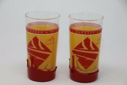Two 133th Kentucky Derby Commemorative 2007 Glass W/ Makers Mark Red Wax Drip