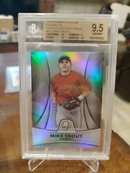 2010 Bowman Platinum Mike Trout - Pp5 Prospect Refractor Thick Stock 9.5 /999