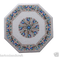 24 Marble Center Coffee Table Top And Free Jewelry Box Inlay Gift Home Decorative