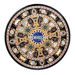 Marble Dining Table Top Multi Scagliola Inlay Stone Kitchen Art Rare Decor H3941